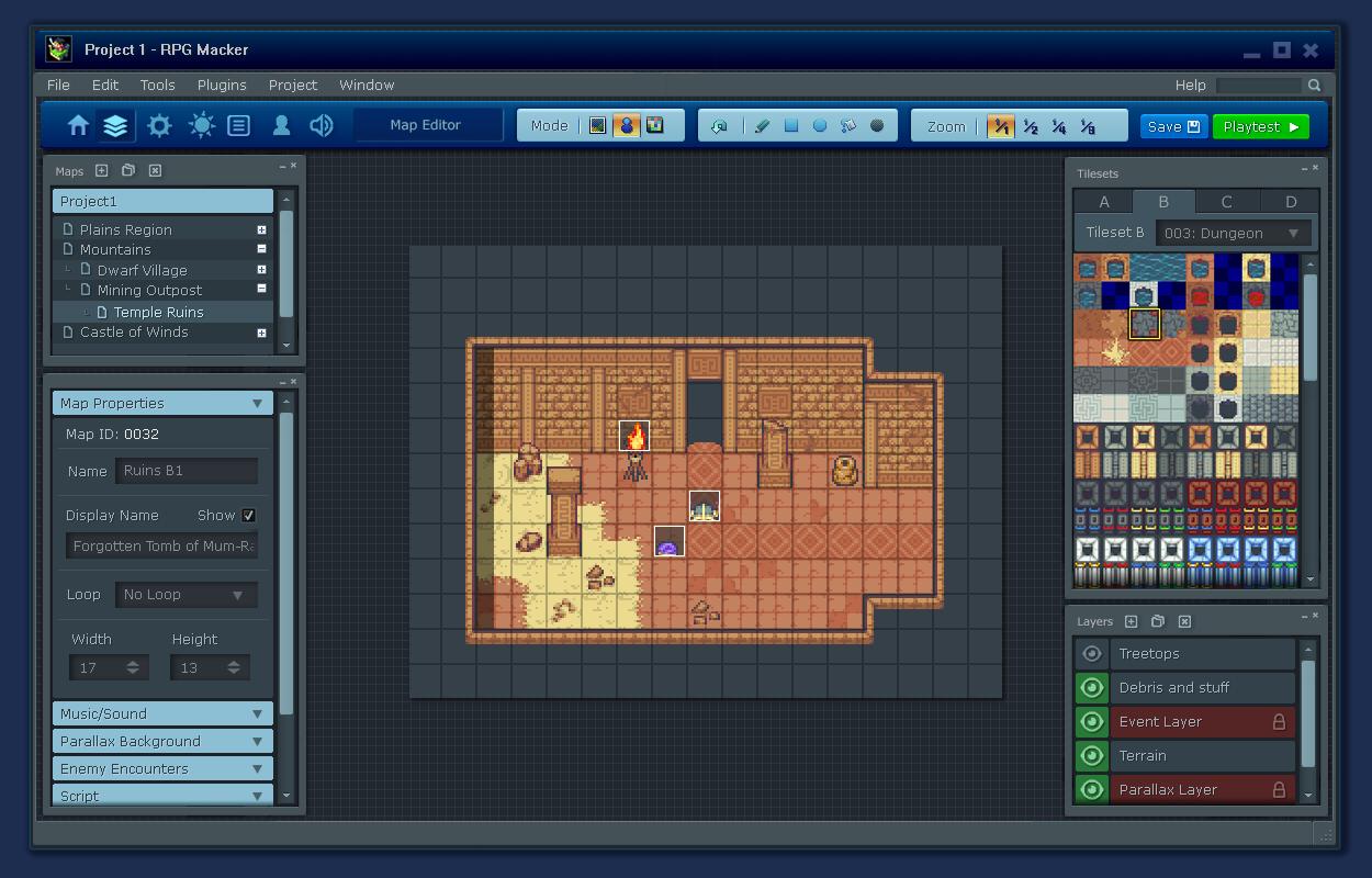 RPGMaker UI Concept