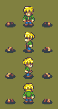 Unfinished sprite sheet