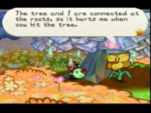 Unlike other dungeons, Flower Fields in the original Paper Mario was unique in that it was an outside area with lots of interactive characters.