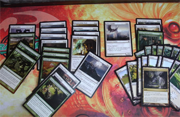 Magic: the Gathering decks are typically 60 or 40 cards.