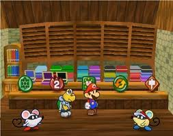 Paper Mario's shops are more than just menu screens.